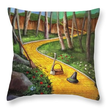 Memories Of Oz Throw Pillow by Randy Burns