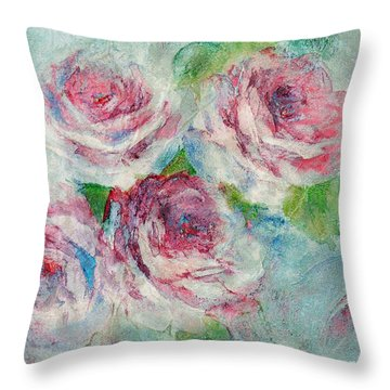Memories Of Roses Throw Pillow