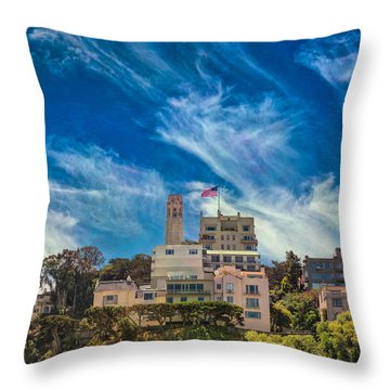 Throw Pillow featuring the photograph Memories Of San Francisco by John M Bailey