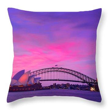 memories of Sydney3 Throw Pillow
