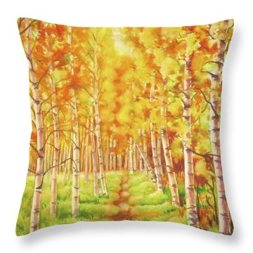 Memories Of The Birch Country Throw Pillow