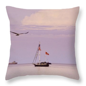 Throw Pillow featuring the photograph Memories Of The Lake by Heidi Hermes