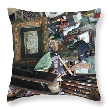 Memories Of The Past Baseball Items  Throw Pillow