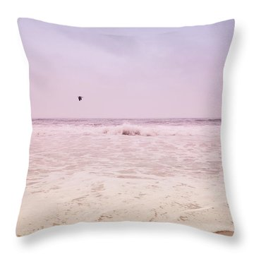 Throw Pillow featuring the photograph Memories Of The Sea by Heidi Hermes