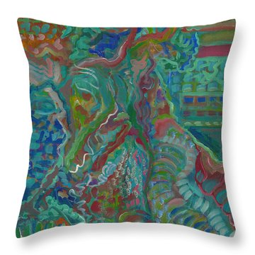 Throw Pillow featuring the painting Memories Of The Wild by John Keaton