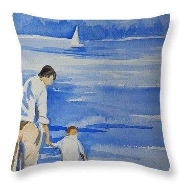 Memories On Lake Lanier Throw Pillow