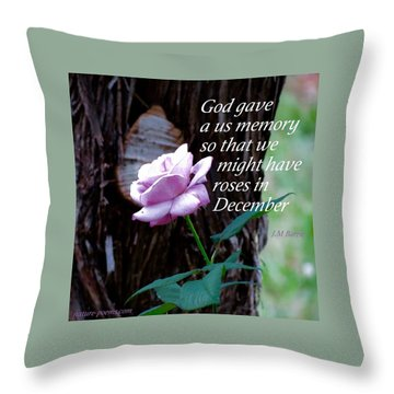 Memories Throughout  Throw Pillow by David Norman