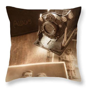 Captured Memories Throw Pillow by Wim Lanclus