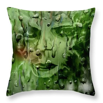 Throw Pillow featuring the digital art Memory In The Rain by Darren Cannell
