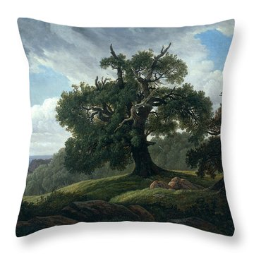 Memory Of A Wooded Island In The Baltic Sea Throw Pillow