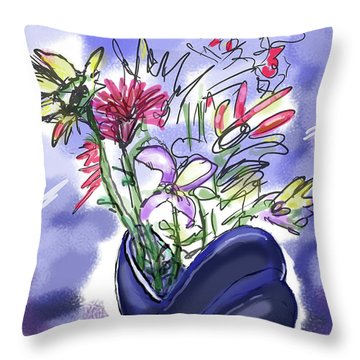 Memory Of Spring Throw Pillow
