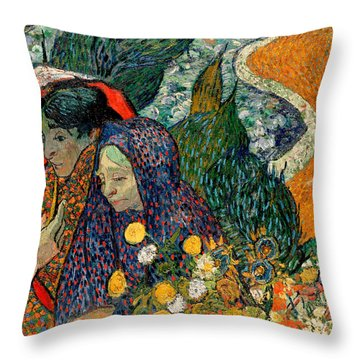 Throw Pillow featuring the painting Memory Of The Garden At Etten by Van Gogh