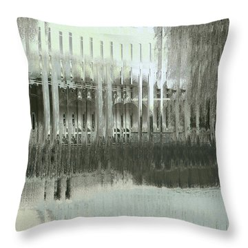 Throw Pillow featuring the digital art Memory Palace - Fading by Wendy J St Christopher