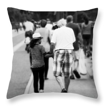 Memory With Grandpa Throw Pillow by Zinvolle Art