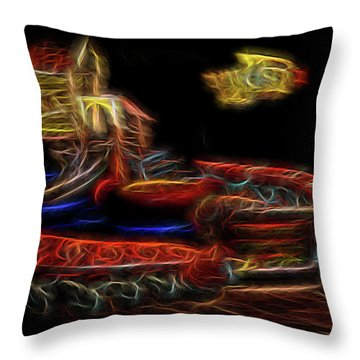 Memory's Playground Throw Pillow by William Horden
