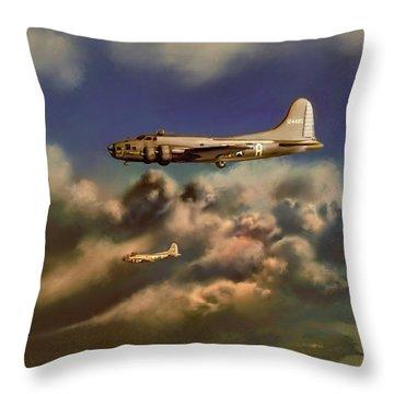 Memphis Belle Throw Pillow by Dave Luebbert