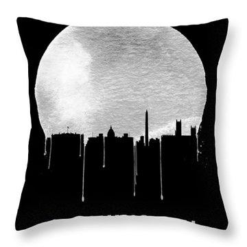 Memphis Skyline Black Throw Pillow by Naxart Studio