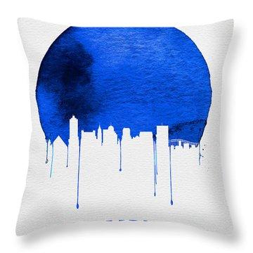 Memphis Skyline Blue Throw Pillow