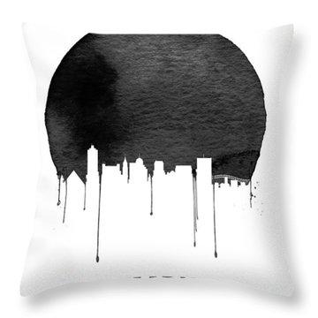 Memphis Skyline White Throw Pillow