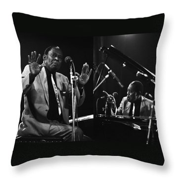 Memphis Slim Throw Pillow