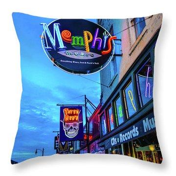 Memphis Soul Throw Pillow