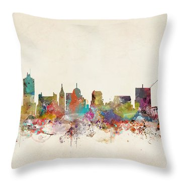 Memphis Tennessee Skyline Throw Pillow