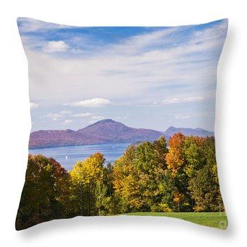 Memphremagog Autumn Throw Pillow