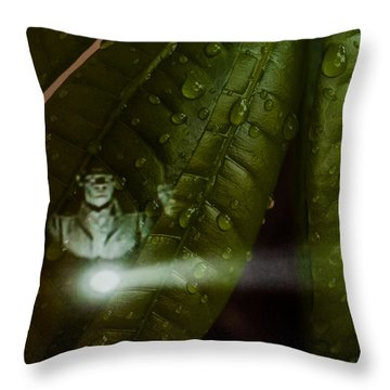 Men In Green Throw Pillow