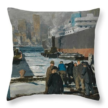 Men Of The Docks Throw Pillow