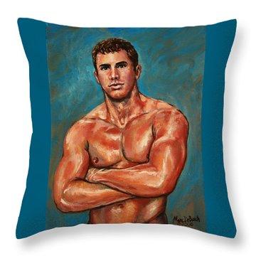 Man Sweat Throw Pillow