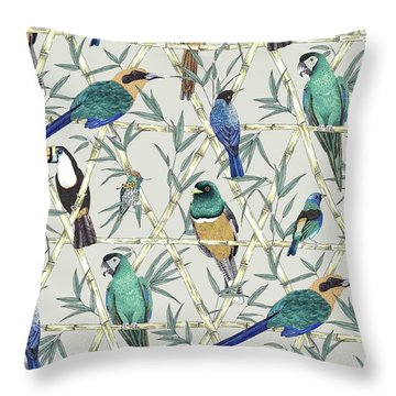 Menagerie Throw Pillow by Jacqueline Colley