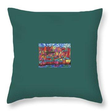 Throw Pillow featuring the painting Menaggio Italy by Jonathon Hansen