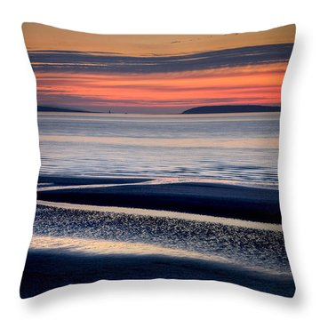 Menai Strait Throw Pillow