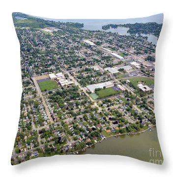 Menasha To East Throw Pillow by Bill Lang