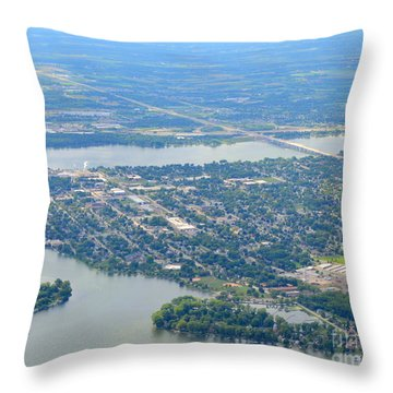 Menasha To West Throw Pillow by Bill Lang