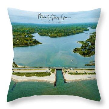 Menauhant Beach Throw Pillow