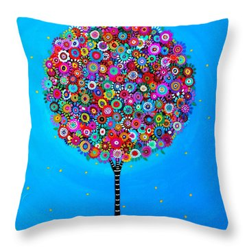 Throw Pillow featuring the painting Purpose Of Life by Pristine Cartera Turkus