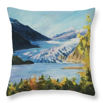 Mendenhall Glacier Juneau Alaska Throw Pillow