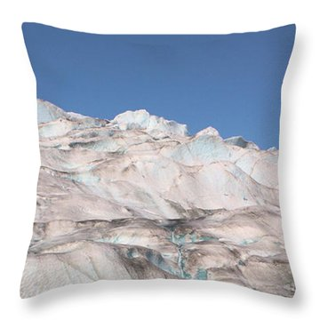 Mendenhall Glacier Panoramic Throw Pillow by Kristin Elmquist