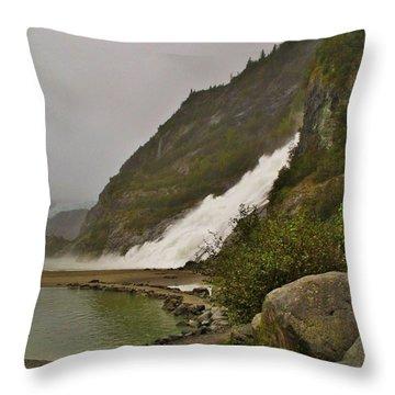 Mendenhall Glacier Park Throw Pillow