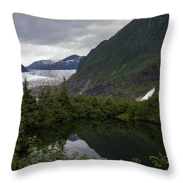 Mendenhall Lake Throw Pillow