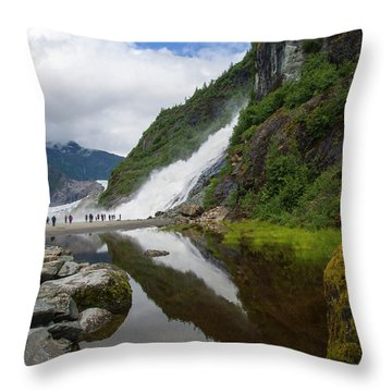 Mendenhall Waterfall Throw Pillow