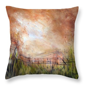 Mending Fences Throw Pillow