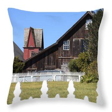Mendocino Barn Throw Pillow