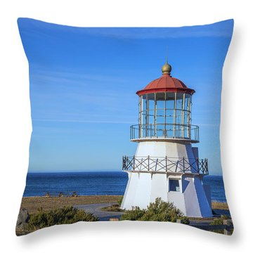 Mendocino Ligthhouse Throw Pillow