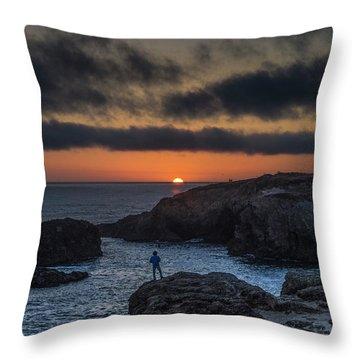 Mendocino Sunset Throw Pillow