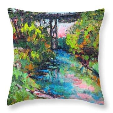 Menominee Viaduct Throw Pillow