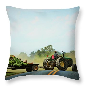 Menonnite Tobacco Farmer And Wife Throw Pillow