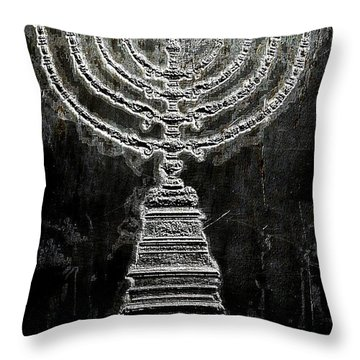 Throw Pillow featuring the photograph Menorah by Aaron Berg