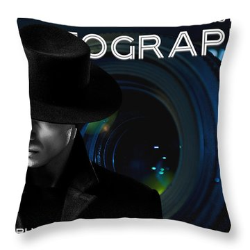 Mens Fashion Photography Are You Photogenic Throw Pillow